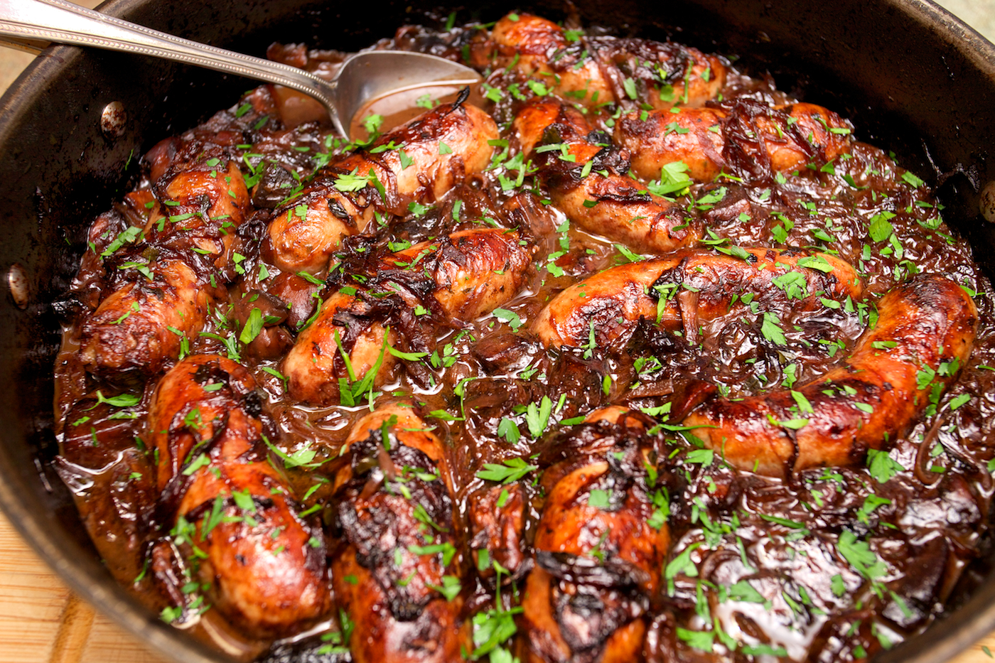 Sausage & Caramelised Red Onion Hotpot – SCRIBBLESNZ ...