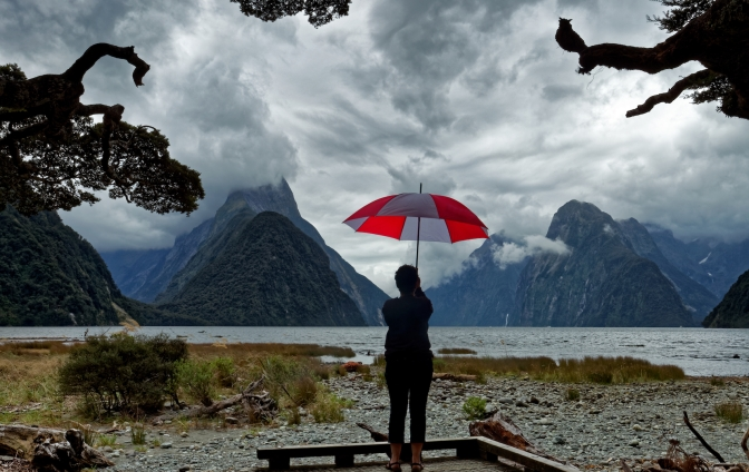 Milford Sound, ne of the wettest places on earth