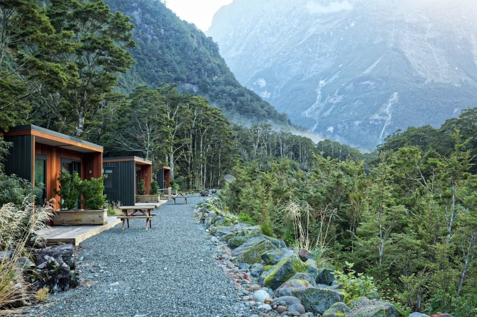 Our accommodation at Milford Sound Lodge. Fantastic!