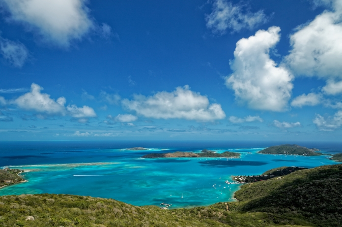 View from Gorda Peak National Park, Virgin Gorda, British Virgin Islands