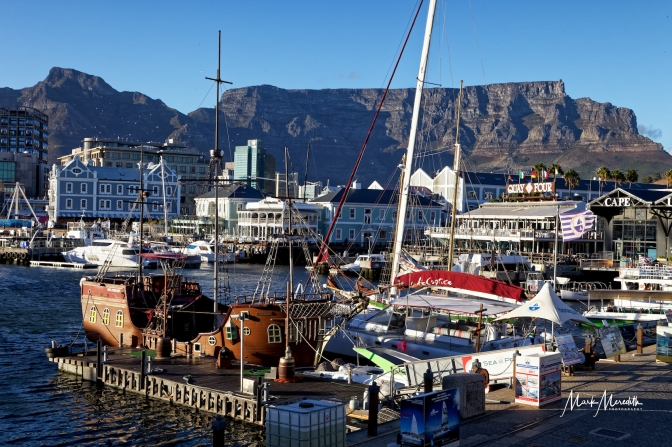 V&A Waterfront with Table Mountain and Devil's Peak