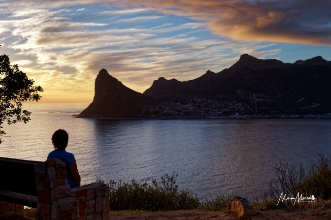 Sunset over Hout Bay and Sentinel Peak