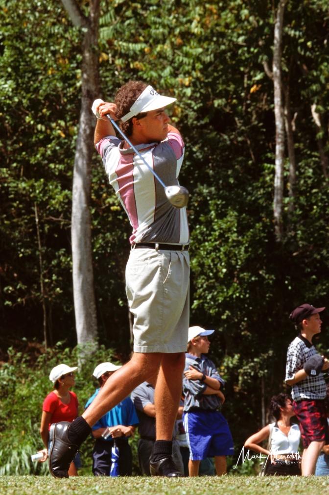 Stephen Ames, T&T's US PGA Tour golfer at a tournament at Moka